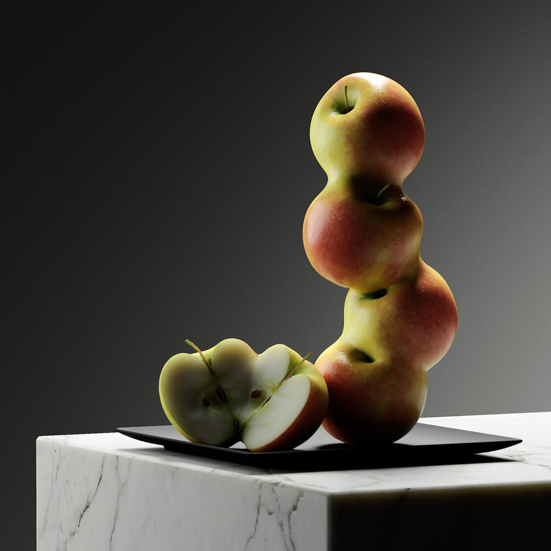 design-motion-3d-photography-octane-redshift-art-visual-animation-render-style-graphic-digital-federicopicci-sculpture-fruit-gmos-omg-genetic-digitalart-lighting-dark-realism-model-fake-apple-marble
